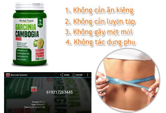 Viên uống giảm mỡ bụng Garcinia Cambogia Max