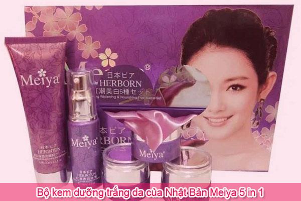 Bộ kem dưỡng trắng da của Nhật Bản Meiya 5 in 1