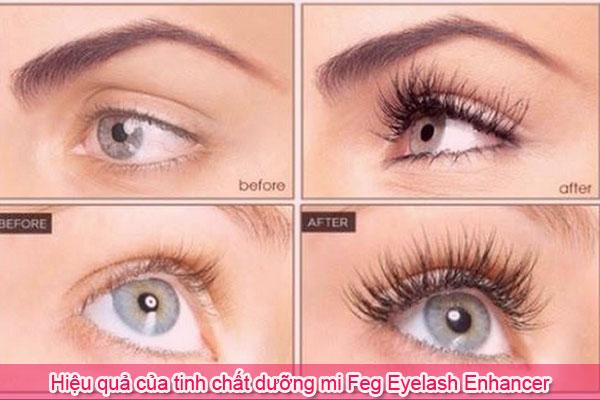 Hiệu quả của tinh chất dưỡng mi Feg Eyelash Enhancer