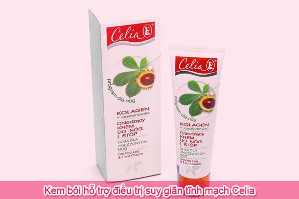 Kem bôi hỗ trợ điều trị suy giãn tĩnh mạch Celia