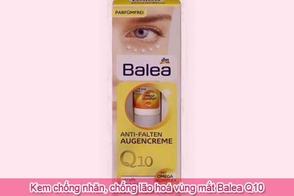 Kem chống nhăn, chống lão hoá vùng mắt Balea Q10