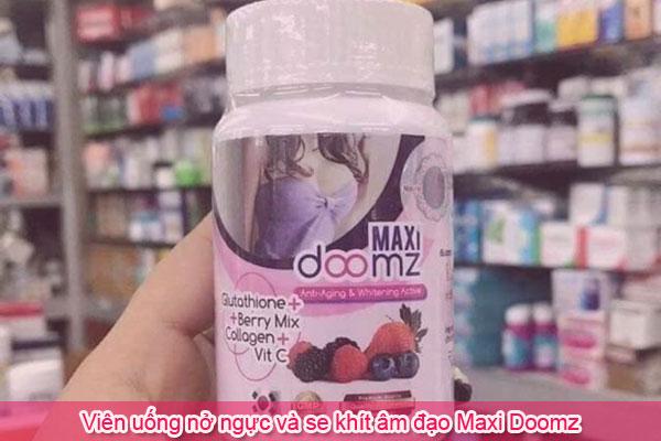 Viên uống nở ngực và se khít vùng kín Maxi Doomz
