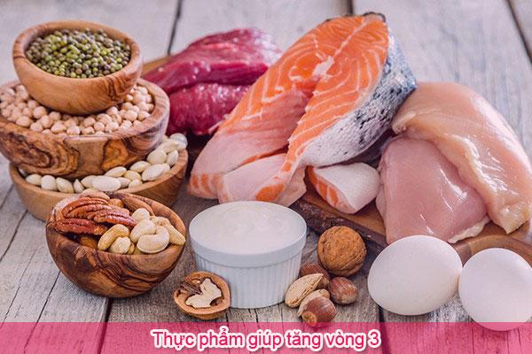 Thực phẩm giúp tăng vòng 3