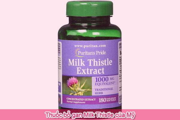 Thuốc bổ gan Milk Thistle của Mỹ