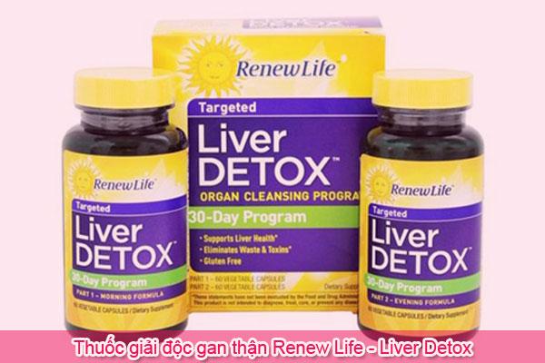 Thuốc giải độc gan thận Renew Life - Liver Detox