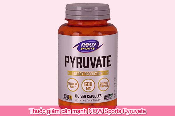 Thuốc giảm cân mạnh NOW Sports Pyruvate