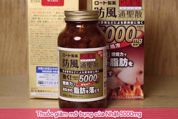 Thuốc giảm mỡ bụng của Nhật 5000mg