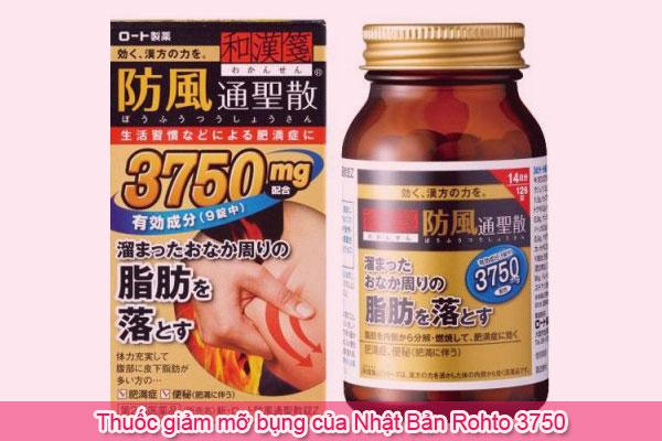 Thuốc giảm mỡ bụng của Nhật Bản Rohto 3750