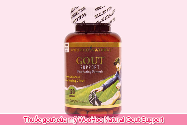 Thuốc gout của Mỹ WooHoo Natural Gout Support