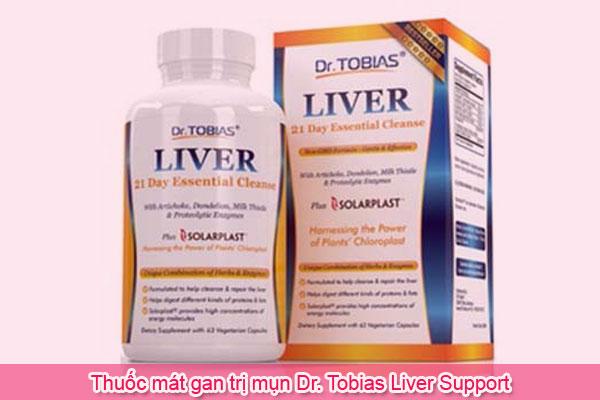 Thuốc mát gan trị mụn Dr. Tobias Liver Support