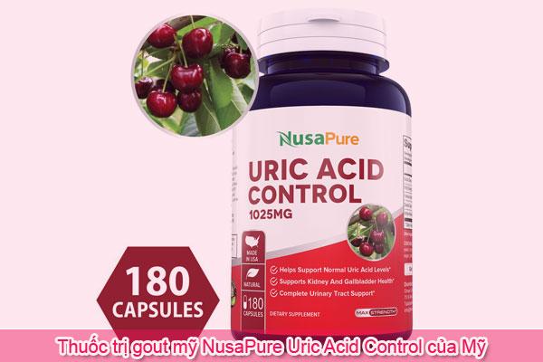 Thuốc trị gout mỹ NusaPure Uric Acid Control của Mỹ