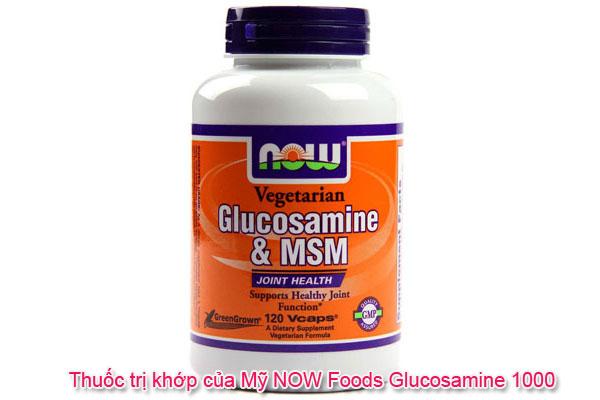 Thuốc trị khớp của Mỹ NOW Foods Glucosamine 1000