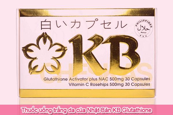 Thuốc uống trắng da của Nhật Bản KB Glutathione