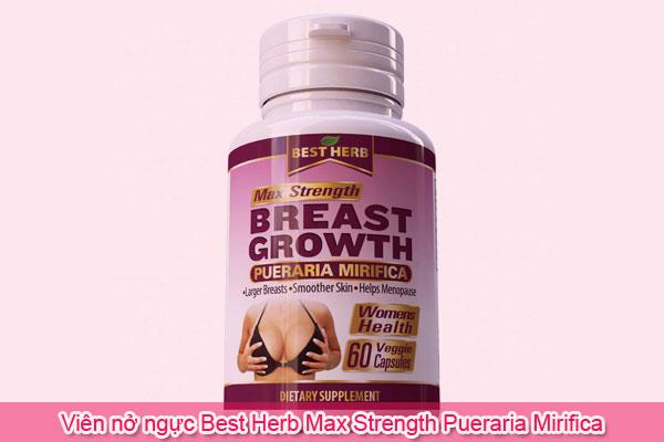 Viên nở ngực Best Herb Max Strength Pueraria Mirifica