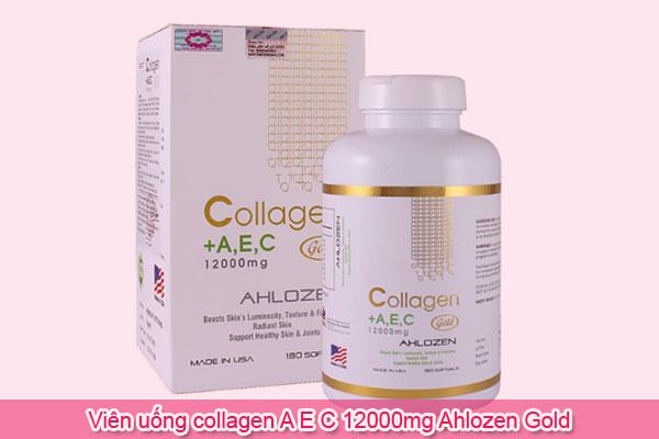 Viên uống collagen A E C 12000mg Ahlozen Gold