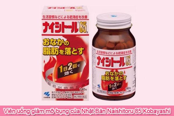 Viên uống giảm mỡ bụng của Nhật Bản Naishitoru 85 Kobayashi